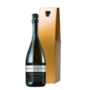 Personalised Wedding Prosecco & Gold Gift Box