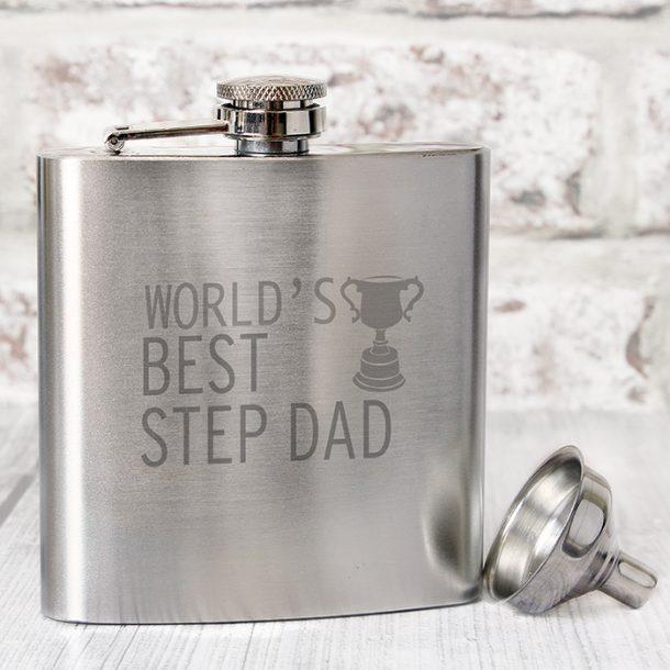 World's Best Step Dad Hip Flask