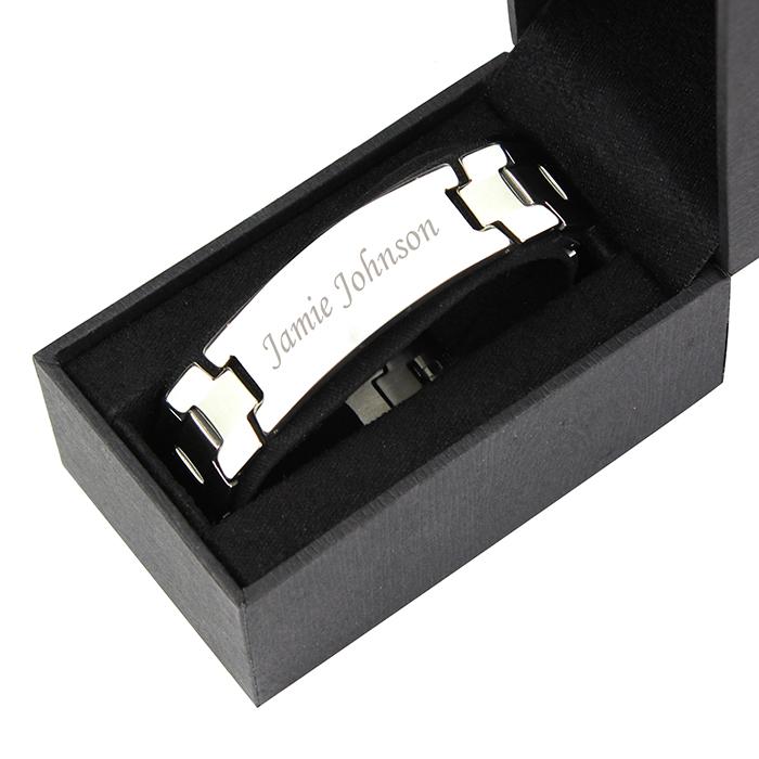 Personalised Stainless Steel Men S Id Bracelet Love My Gifts