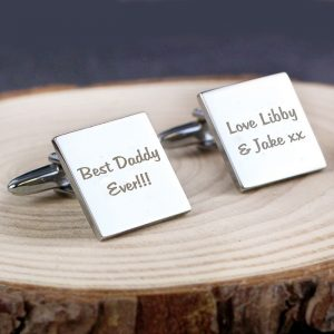 Personalised Any Message Square Cufflinks