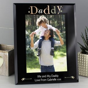 Personalised Daddy Glass 5 x 7 Photo Frame