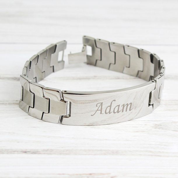 Personalised Stainless Steel Men's ID Bracelet