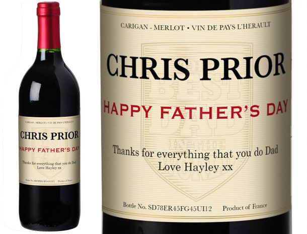 Personalised Father's Day Red Wine