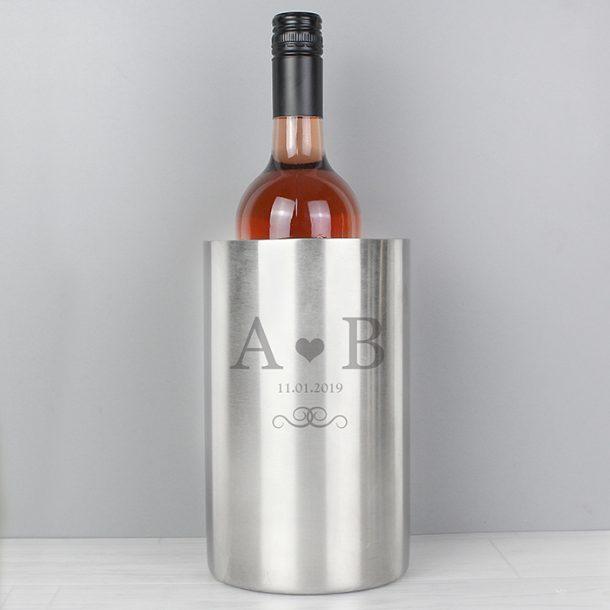 Personalised Monogram Stainless Steel Drinks Cooler