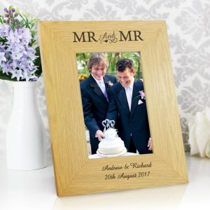 Personalised Mr & Mr Wooden Frame