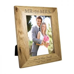 Personalised Mr & Mrs Wooden Frame