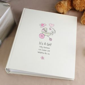 Personalised Whimsical Pram Photo Album