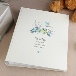 Personalised Whimsical Train Photo Album