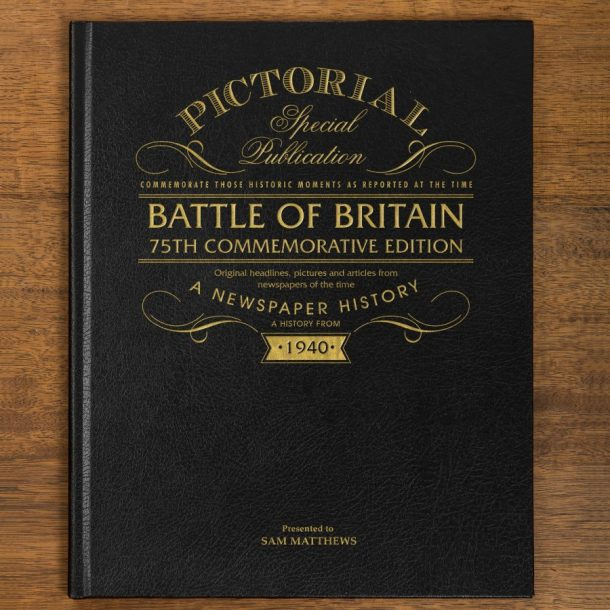 Personalised Battle of Britain Newspaper Book
