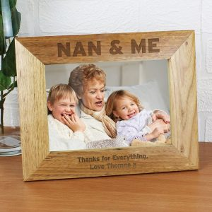 Personalised Nan & Me Wooden Photo Frame