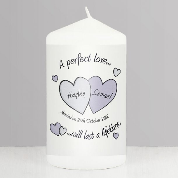 Personalised A Perfect Love Candle