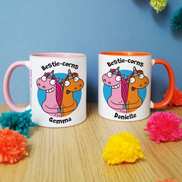 Personalised Bestie-corns Mug Set