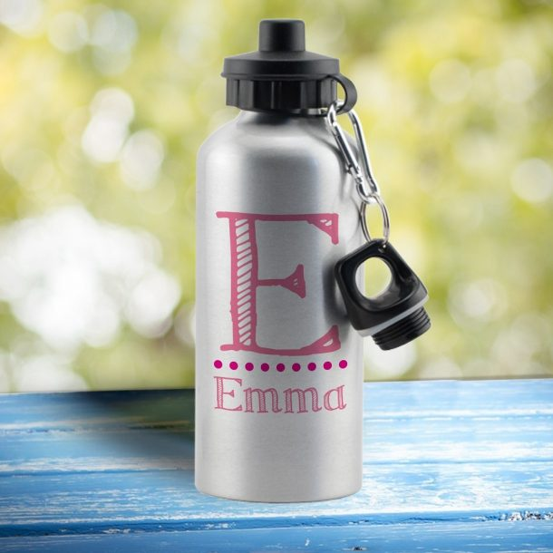 Personalised Pink Name Drinks Bottle