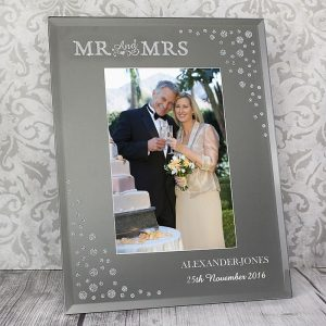 Personalised Glass Mr & Mrs Frame