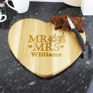 Personalised Mr & Mrs Chopping Board