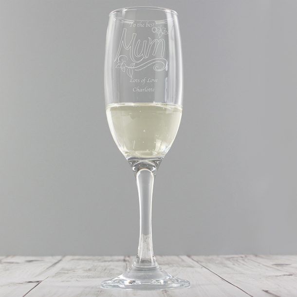 Personalised Mum Champagne Flute