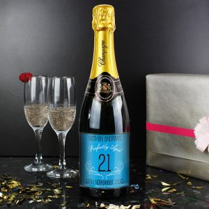 Personalised Age Champagne Blue