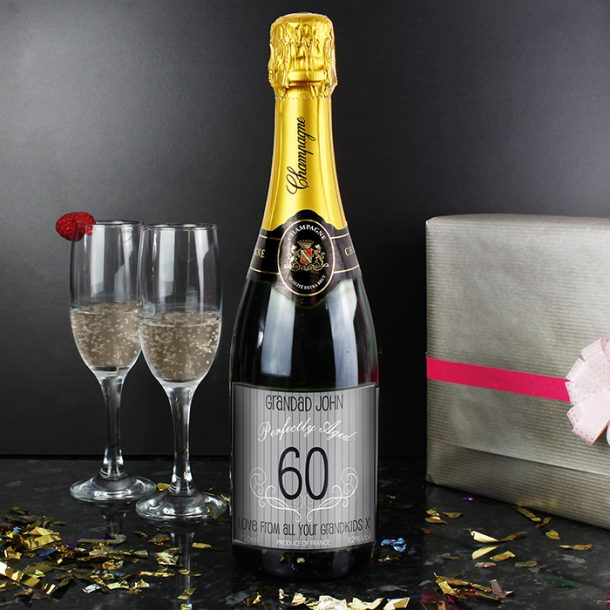 Personalised Age Champagne Grey