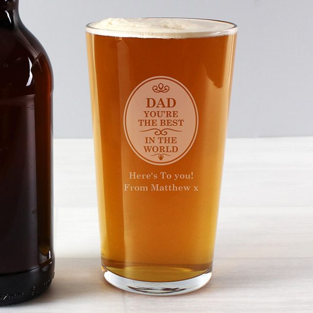 Personalised Best In The World Pint Glass