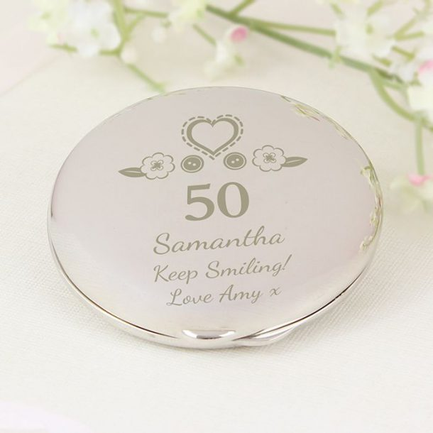 Personalised Birthday Compact Mirror