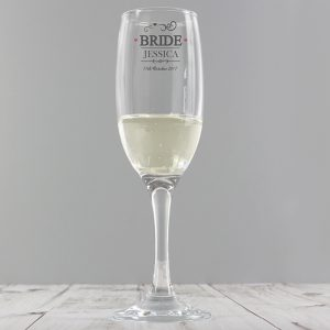 Personalised Bride Champagne Flute