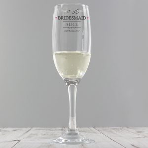 Personalised Bridesmaid Champagne Flute