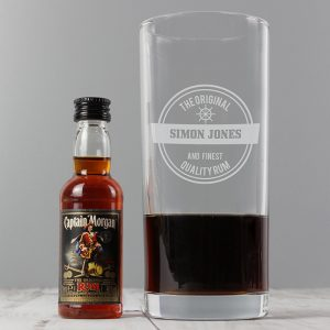 Personalised Miniature Rum Gift Set