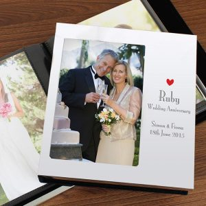Personalised Ruby Anniversary Album