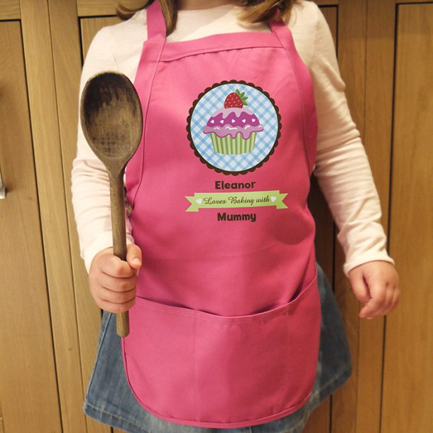 Personalised Strawberry Cupcake Children's Apron