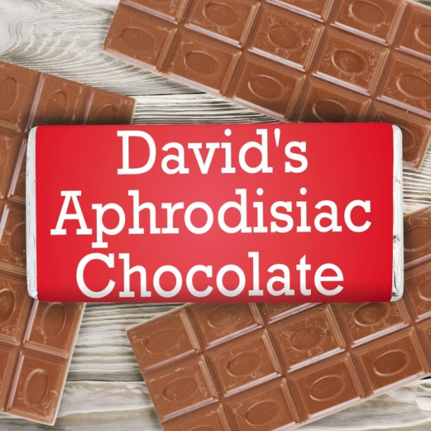 Personalised Aphrodisiac Milk Chocolate Bar