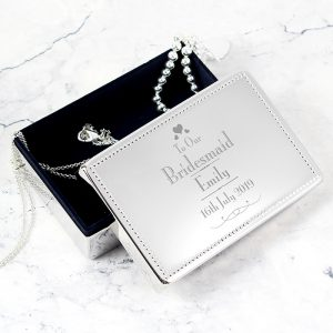 Personalised Bridesmaid Jewellery Box