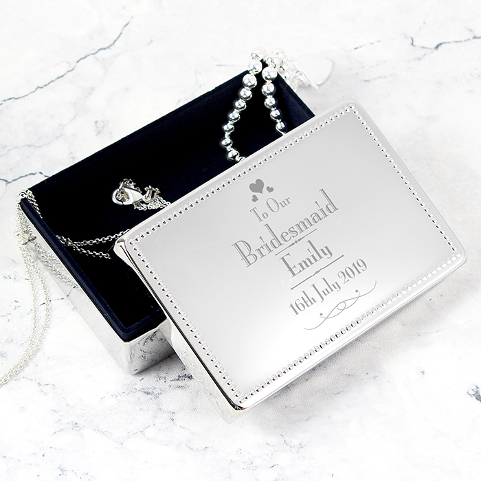 Personalised Bridesmaid Jewellery Box Love My Gifts
