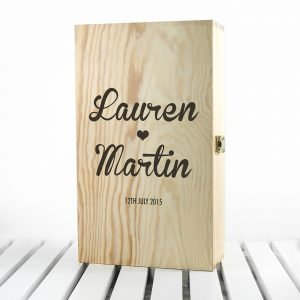 Personalised Couple's Romantic Wine Box