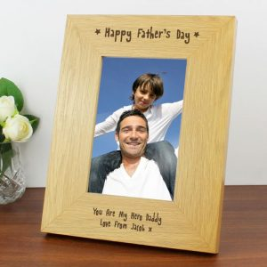 Personalised Fathers Day Photo Frame