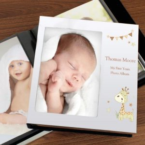 Personalised Giraffe Photo Frame Album