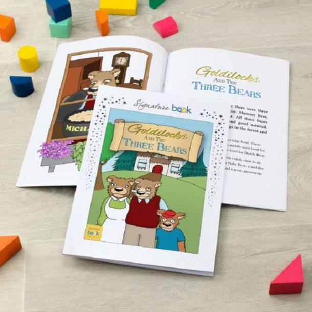 Personalised Goldilocks & The Three Bears Book - Softback