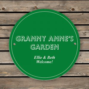 Personalised Green House Or Garden Sign