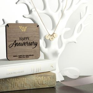 Personalised Happy Anniversary Necklace And Keepsake