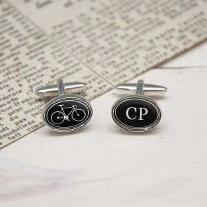 Personalised I Love My Bicycle Cufflinks