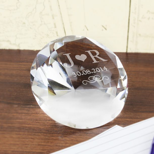Personalised Initials Diamond Paper Weight