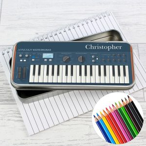 Personalised Keyboard Pencil Tin with Pencils