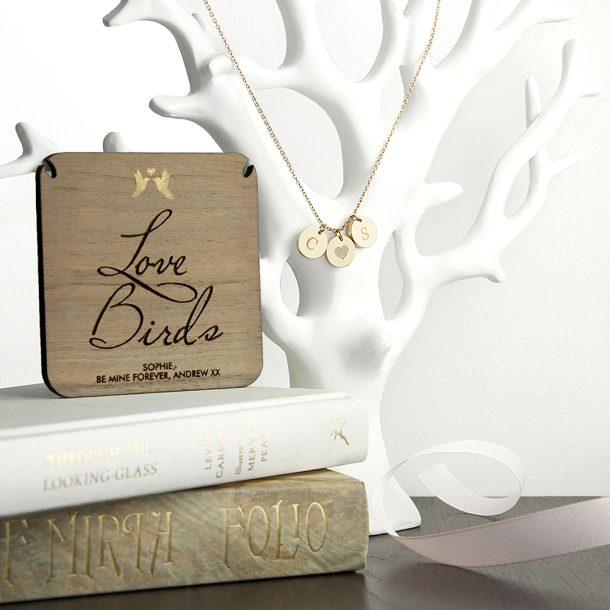 Personalised Love Birds Necklace And Keepsake