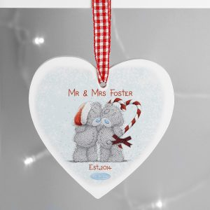 Personalised Me To You Couple Christmas Wooden Heart