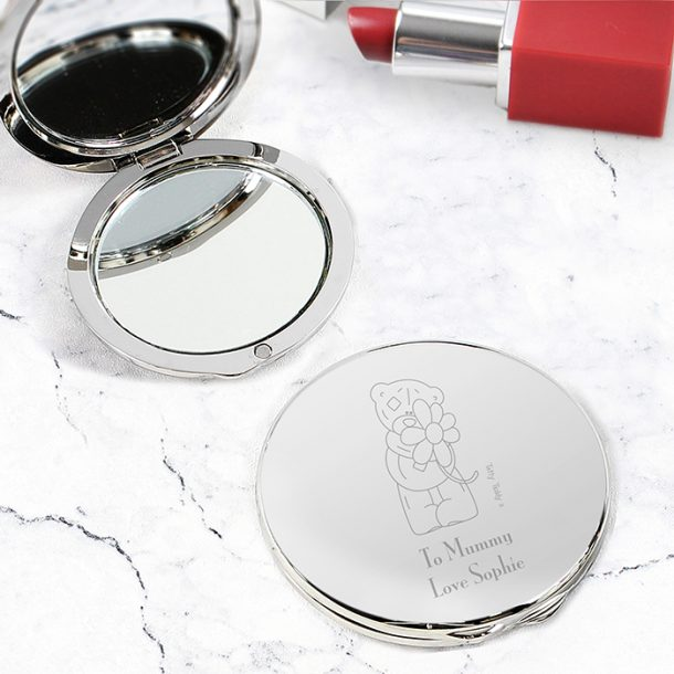 Personalised Me to You Flower Compact Mirror