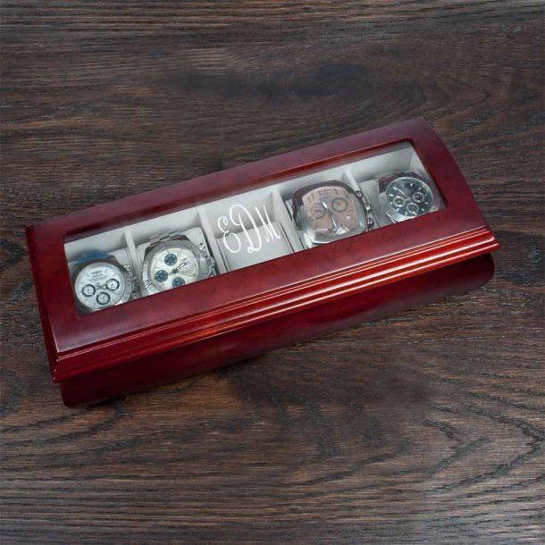 Personalised Monogram Wooden Watch Box