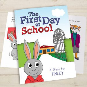 Personalised My First Day At School Softback Book