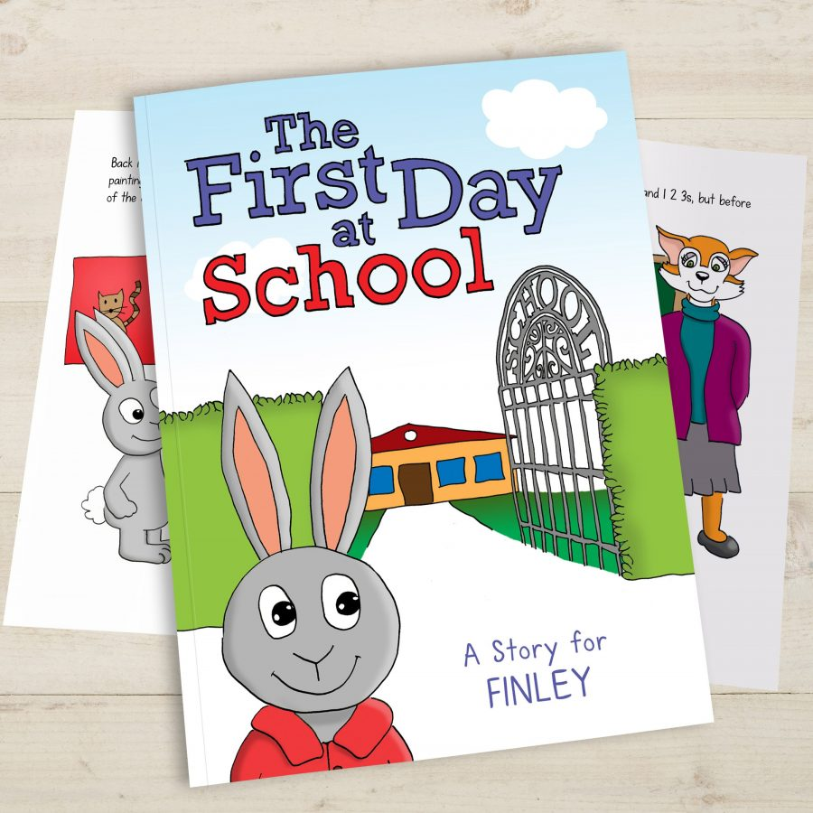 Personalised My First Day At School Hardback Book Love My Gifts