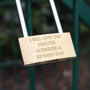 Personalised Romantic Message Padlock