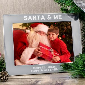 Personalised Santa And Me Photo Frame