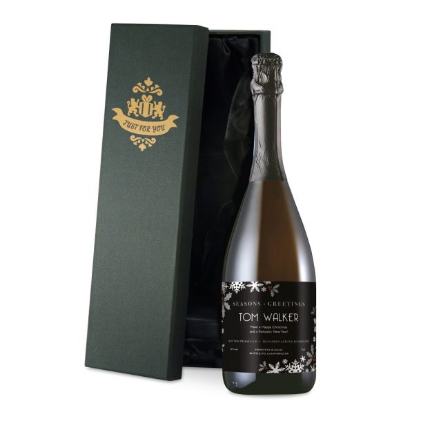 Personalised Snowflake Prosecco & Luxury Gift Box